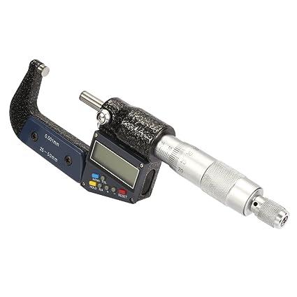 Silverline External Digital Micrometer 25mm Mechanical Engineering DIY Tool