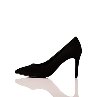Brand - find. Wide Fit Point Court Shoe, Women's Closed Toe Heels: Shoes