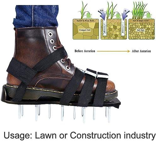 TENT-Z Aireador de Cesped Zapatos - ABREOME Escarificador Cesped Zapatos Jardín de Césped con 10 Correas Ajustables, para tu Césped, Jardín, Jardinería: Amazon.es: Hogar