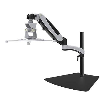 HFTEK Soporte de mesa para proyector proyectores - Soporte de Monitor - Soporte de Altura Ajustable de beamer con Brazo (GP12SW)