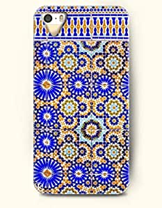 OOFIT Apple iPhone 5 5S Case Moroccan Pattern ( Blue and Orange Geometry )