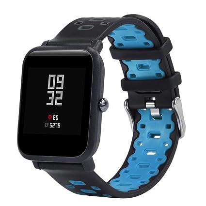 Zolimx Ligero Ventilar Suave Silicona Reloj Banda Pulsera para Xiaomi Huami Amazfit Bip Juventud Smartwatch (