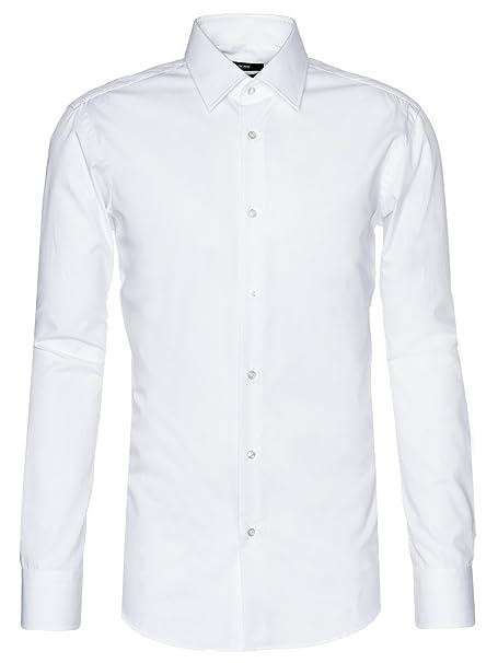 843a26e96 Hugo Boss Mens Smart Shirt ENZO 50121367 Size 38 White: Hugo Boss:  Amazon.ca: Clothing & Accessories