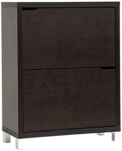 Baxton Studio Simms Shoe Cabinet In Dark Brown
