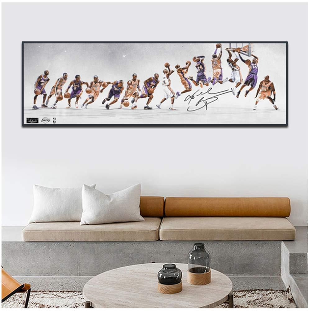 50x150 cm Senza Cornice Carriera di Basket di Kobe Poster da Parete in Tela Immagini Stampe per Soggiorno Stampe su Tela da Sport Decorazioni per la casa Arte da Parete