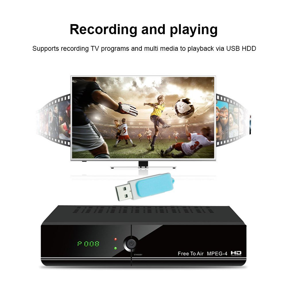 wezone Digital Free to Air DVB-S2 Set Top Box 888 Plus A Satellite TV  Receiver Mpeg-4 Full HD with PVR Support