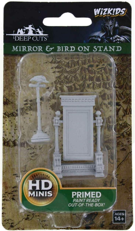 WizKids Deep Cuts Unpainted Miniatures Terrain: Wave 5: Mirror & Bird on Stand