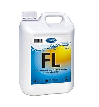 Tamar - Floculante Liquido para Piscinas, Garrafa de 5 Litros.