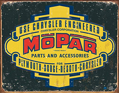 Desperate Enterprises Mopar Logo '37 - '47 Tin Sign, 12.5