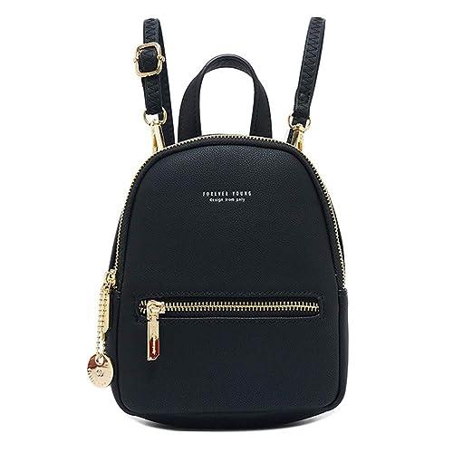Amazon.com: Aeeque - Mini mochila para mujer, de cuero ...