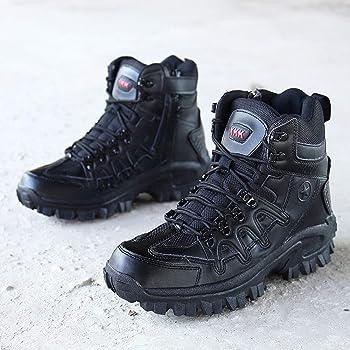a1e0b844a96 Caopixx Men's Sport Army Tactical Boots Desert Outdoor Hiking Leather Boots  Combat Shoes
