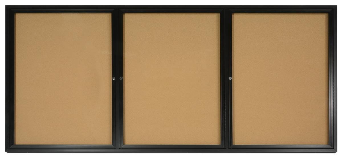 Amazon Enclosed Cork Bulletin Board 8 X 4 Feet 3 Doors 96