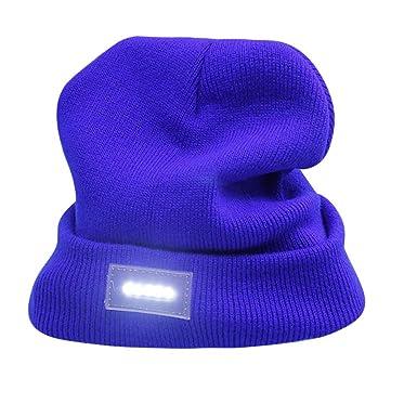 2296c12b1b803 Sencillo Vida Gorra de Punto con luz de Cabeza LED Sombreros de Invierno  Gorro Beanie Hombre