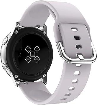 Isabake Correa Compatibles con Galaxy Watch Active, Samsung Galaxy Watch 42mm Gear Sport/Gear S2 Classic, Pulsera de Reemplazo de Silicona Suave de ...