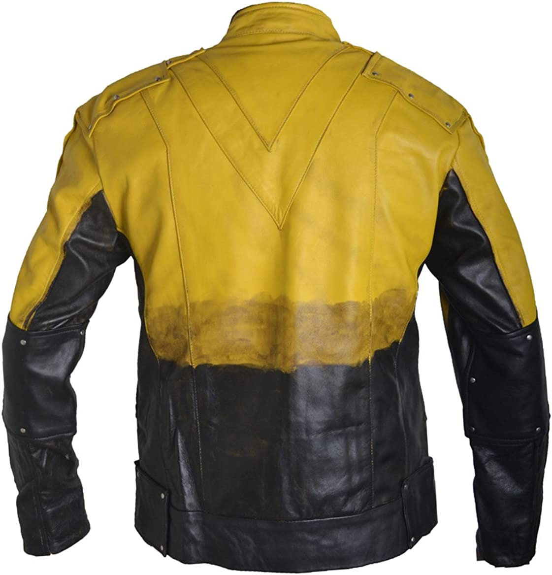 Blazrd Mens Fashion Reverse Flash Leather Jacket Sheep Multicoloured Small