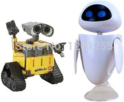 2Pcs/Set Wall-E Robot Wall E &Amp; Eve Pvc Action Figure Model Toys Dolls 6Cm