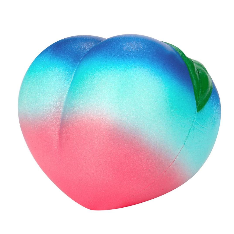 CSSD {Rainbow Honey Peach} {Cream Scented} {Squishy Slow Rising} Squeeze Strap {Kids Toys} 11CM