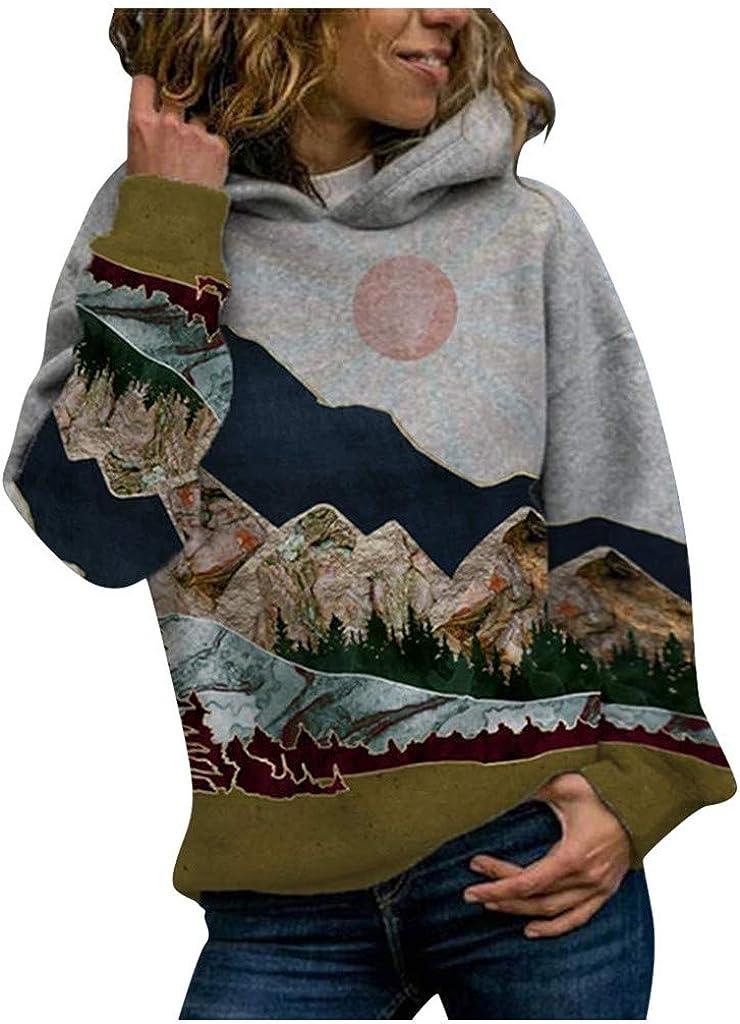 ODJOY-Fan Felpa Oversize da Donna Maglioni A Maniche Lunghe Pullover Stampato Felpa da Donna Plus Size Pullover Camicie Top