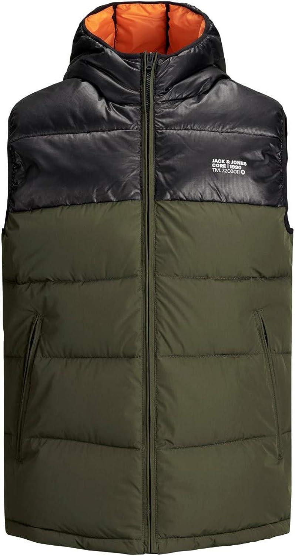 JACK /& JONES Jasso Mens Quilted Gilet Vest Body Warmer