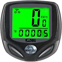 Bike Computer Speedometer Wireless Waterproof Bicycle Odometer Cycle Computer Biking Cycling Accessories with Automatic Wake-up Multi-Function Large LCD Back-light Display by Arespark