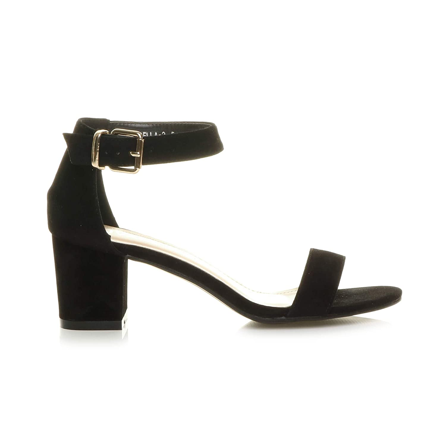 e60f3cf5993 Womens Ladies Low mid Block Heel peep Toe Buckle Ankle Strap Party Strappy  Sandals Shoes Size