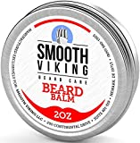 while Beard Balm with Leave-in Conditioner- Styles, Strengthens & Thickens for Healthier Beard Growth, while Argan Oil and Wax Boost Shine and Maintain Hold- 2 oz Smooth Viking