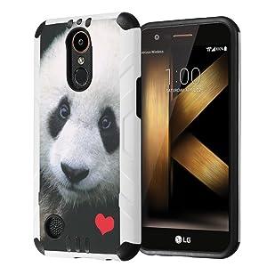 LG K20Plus / LG K20V Case, LG Harmony Case, LG Grace LTE Case, Capsule-Case Hybrid Dual Layer Slim Defender Armor Combat Case for LG K20 Plus / K20 V/Harmony/Grace- (Panda)
