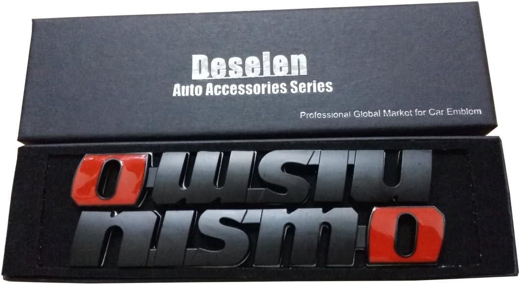 Nissan Nismo Car Emblem Metal Stickers Decals Badge Labeling for Nissan GT-R R35 Matte Black Nismo n Attack Juke 370Z Nissan Sentra Nismo,Maxima,Pack of 2 LP-MO02 Deselen