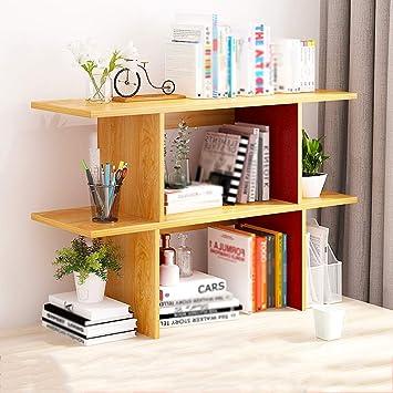 BBG Estantería, estantería moderna simple de escritorio de madera ...
