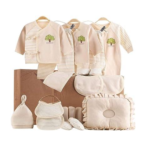 Ropa de bebé, algodón recién nacido Caja de regalo set 0-3 meses 6 ...