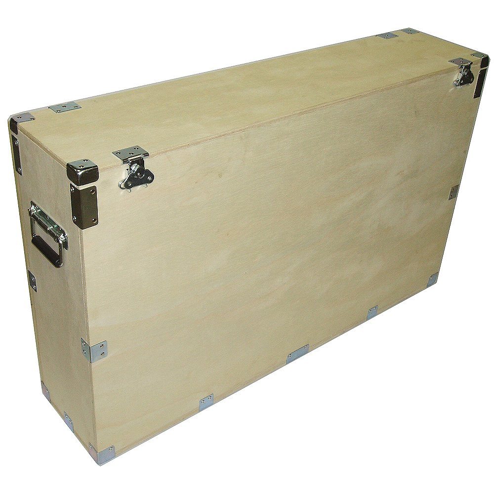 Crate Style Case for 42 Inch Plasma Lcd Led - 1/2 Inch Bare Wood Inside and Out - Kit Form - Inside Dimensions 43 X 9 X 28 High