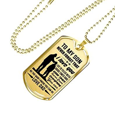 Son Gang Birthday Gifts Father Dog Tag Chain