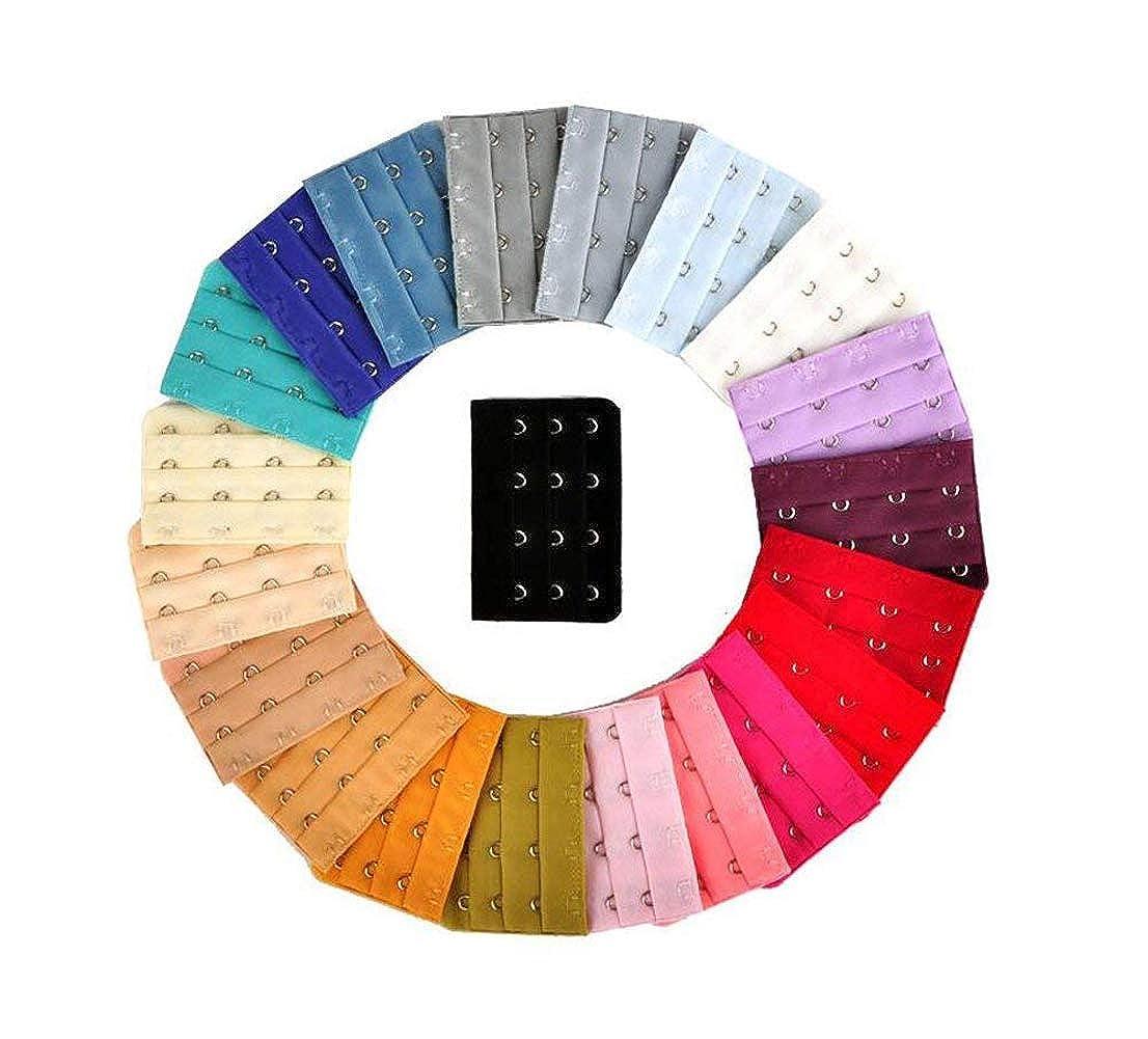 Elandy 20Pcs sortierte Farben Frauen Stellen B/üstenhalter-Klipp-Abstand B/üstenhalter-Erg/änzung-B/ügel EIN Farbe gelegentlich