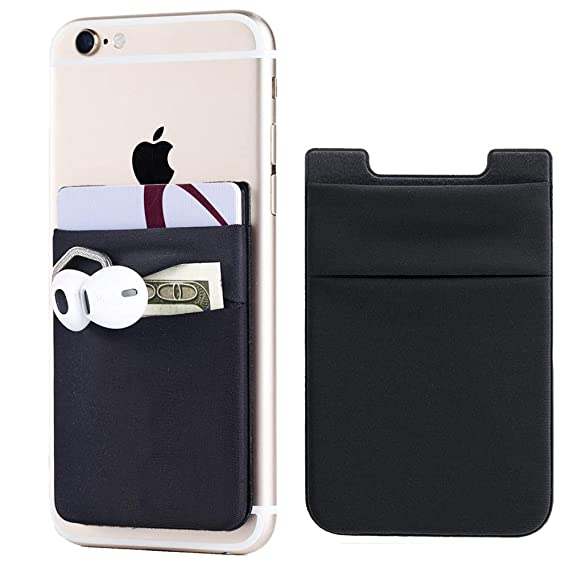 hot sale online a0e3f 09297 2Pack Adhesive Phone Pocket,Cell Phone Stick On Card Wallet,Credit Cards/ID  Card Holder(Double Secure) with 3M Sticker for Back of iPhone,Android and  ...