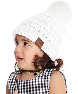 694f88e0e3789 Sombrero Bebé Niño Invierno Cálido Gorro Gorra con Pom de Punto Beanie Warm  Cap Otoño Invierno Tejidos…