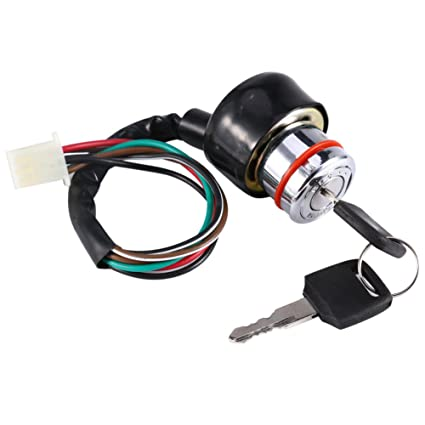 Amazon.com: Yosoo Universal 6 Wire Ignition Switch 3 Position 2 Keys on