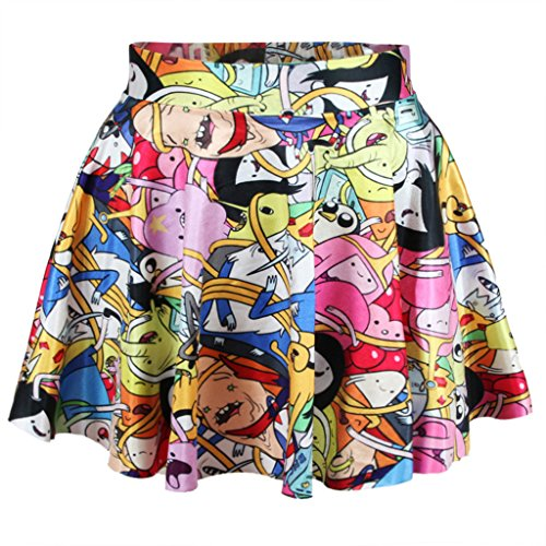 Anime Adventure Time Print Dress - 1