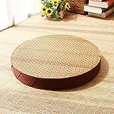 QTQZ Matt mat,Meditation worship buddha pad padded rattan po pad futon cushion-A diameter50cm(20inch)