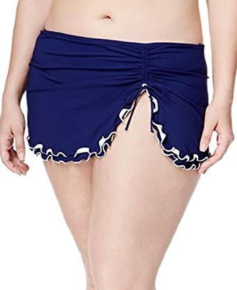 fca2da1b15d Amazon.com  Profile by Gottex Plus Size Ruffled Side-Slit Swim Skirt   Clothing