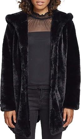 Urban Classics Ladies Hooded Teddy Coat, Parkas Femme, Noir (Black 00007), 1fb9db501b7c