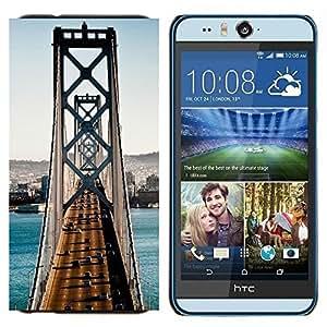 EJOOY---Cubierta de la caja de protección para la piel dura ** HTC Desire Eye M910x ** --Arquitectura San Francisco puente de tráfico
