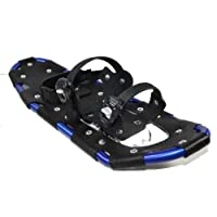 Snowshoes SNOW GLIDER glacier blue aluminium with carry bag for shoe sizes 38 to 47