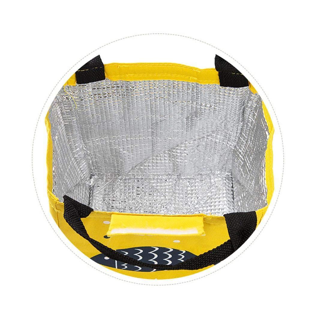 Oplon Bolsa de Almuerzo port/átil de Aislamiento Bolsa de Hielo fr/ío para Picnic al Aire Libre Bolsas t/érmicas 19.5 x 17 x 23.5 cm
