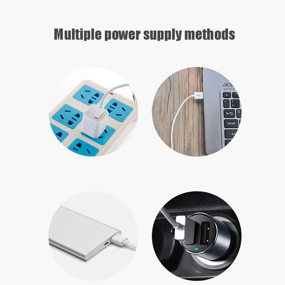 Power Supply Methods Small for Personal Home Office Outdoor Travel,Black Dual Fan Blades Lower Noise 3 Speeds Multiple ZLYGY Desk USB Fan with Adjustable Head