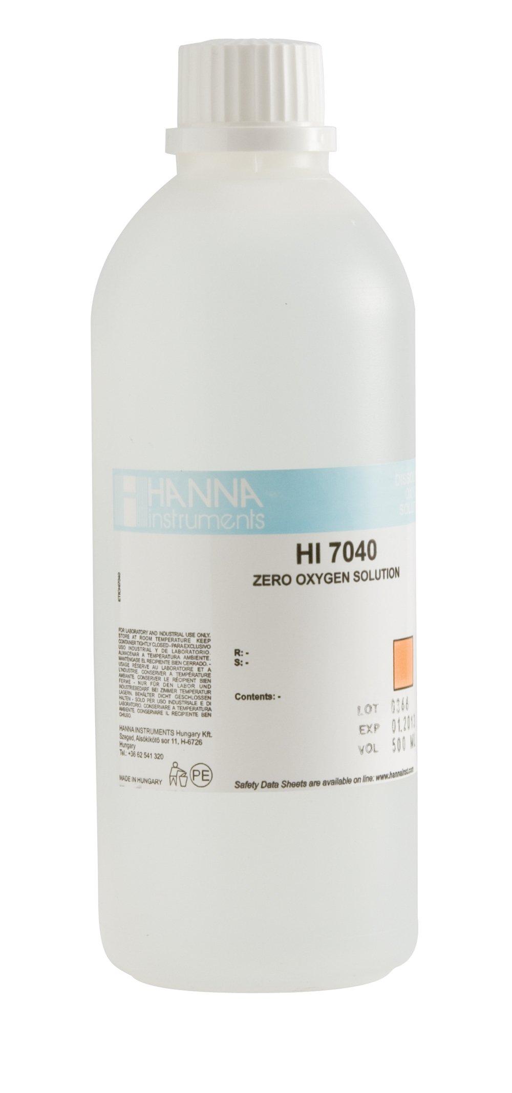 Hanna Instrument HI7040L Zero Oxygen Solution, For DO Probes, 500mL