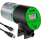 Zacro Automatic Fish Feeder - Rechargeable Timer Fish Feeder with USB Charger Cable, Fish Food Dispenser for Aquarium or…