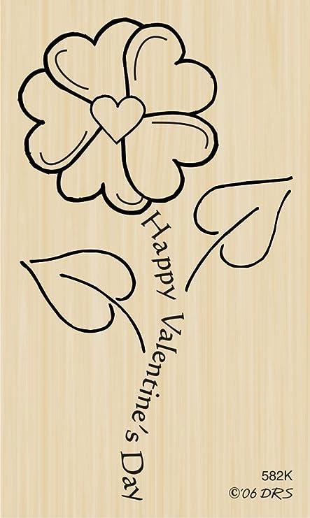 Valentine Flower Rubber Stamp by DRS Designs