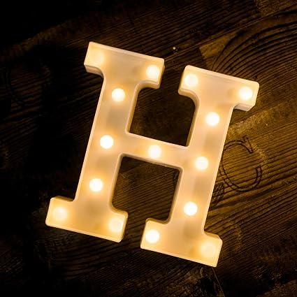 b3a4e262e5b Yoaky LED Marquee Letter Lights Sign 26 Alphabet Light Up Marquee Letters  Sign for Night Light