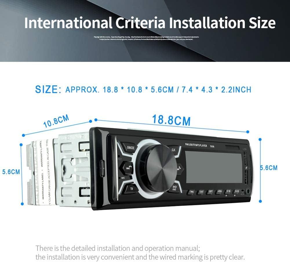 Mugast Lettore MP3 Lettore Musicale Digitale Universale 12V Chiamata a Mani libere Dual USB Bluetooth Lettore MP3 Supporta Lettore di schede USB//TF