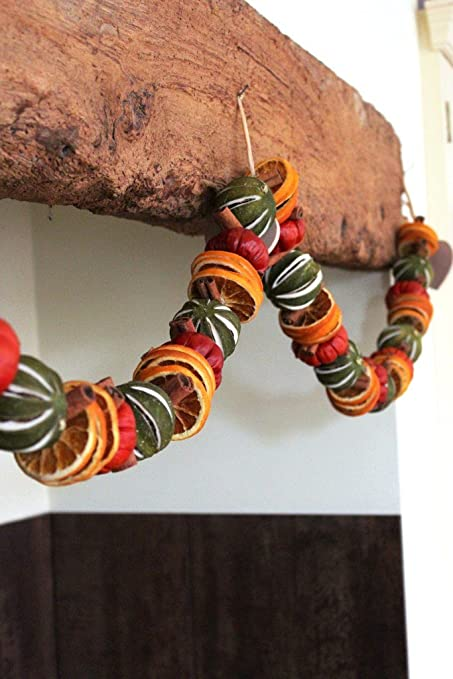 Christmas Dried Fruit Garland 150cm Long Amazon Co Uk Kitchen Home